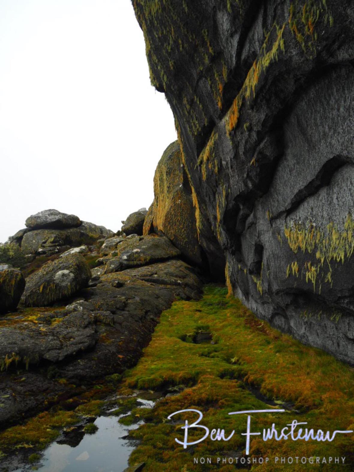 Huge granite wall, Mulanje Mountains, Malawi