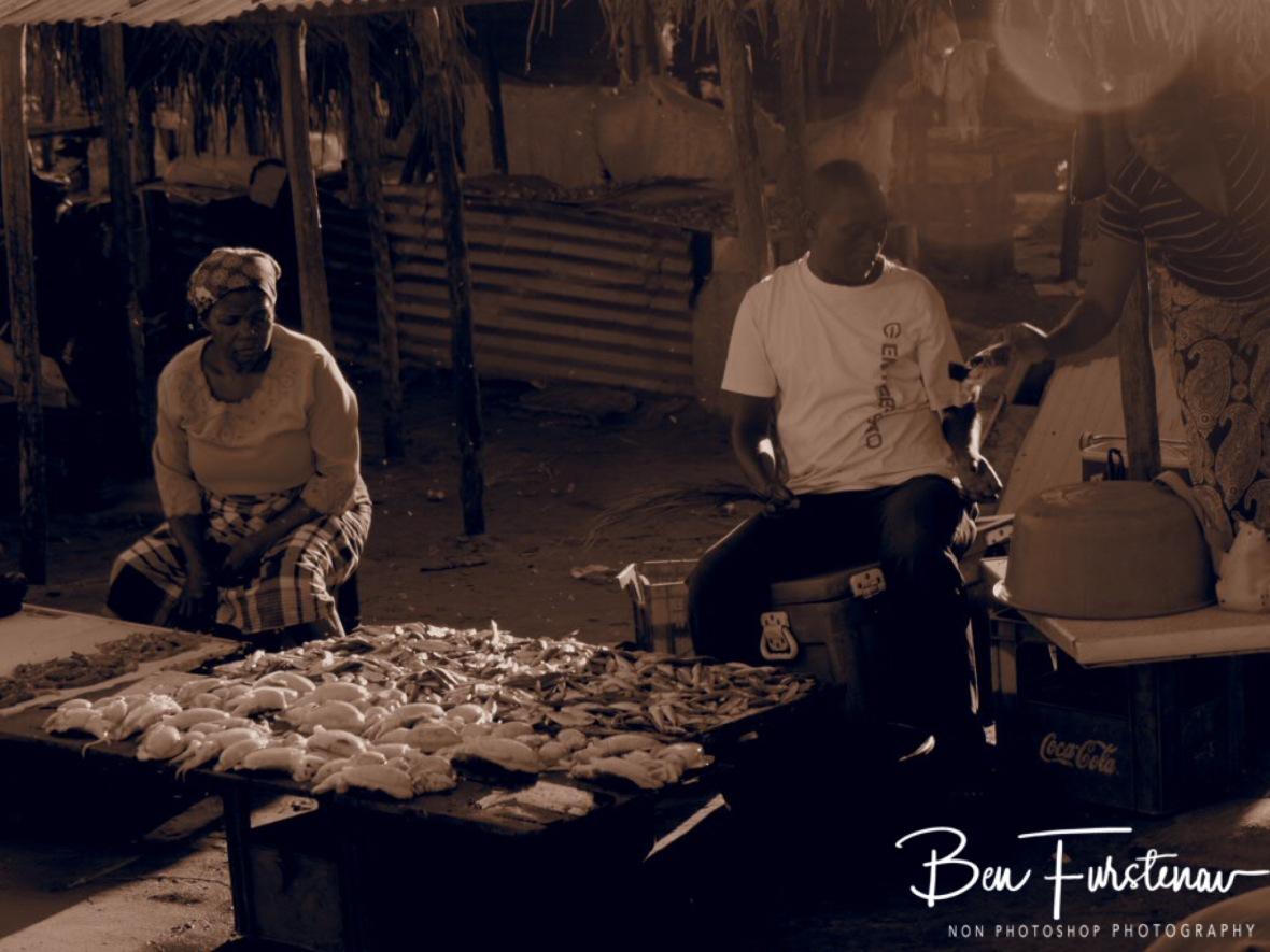 Calamari vendors, Inhambane, Mozambique