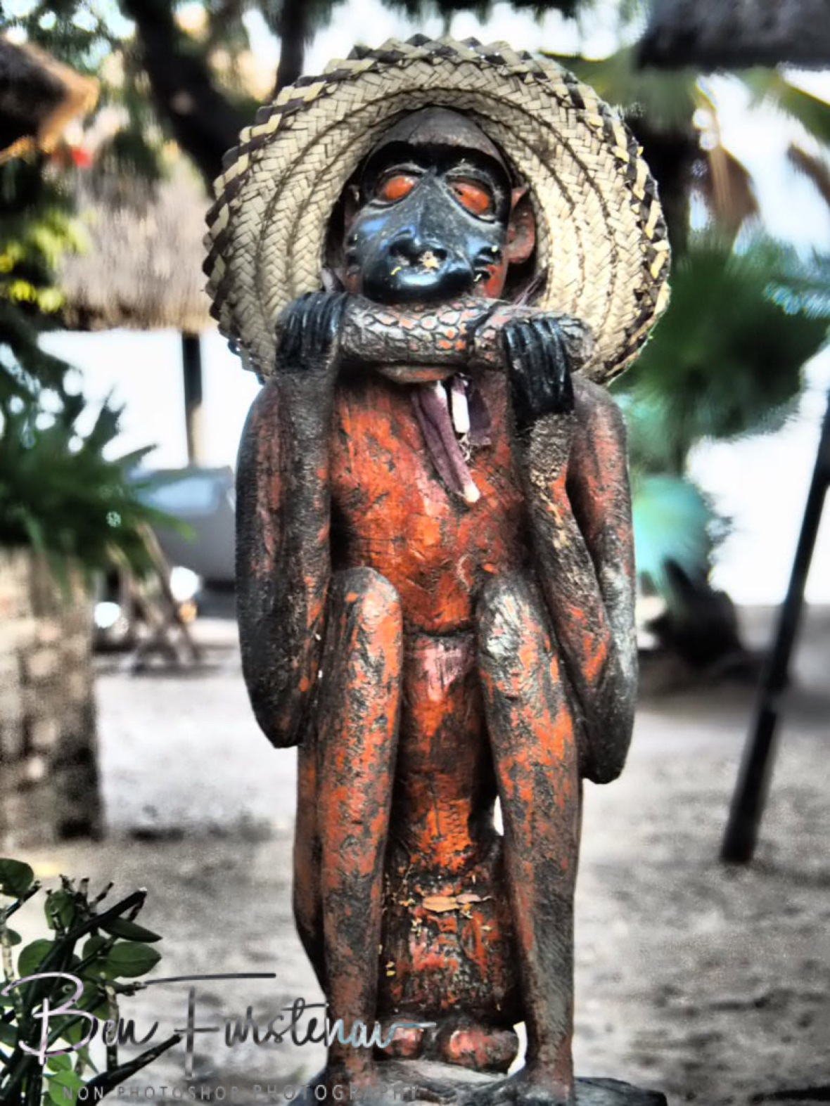 Fat monkey business, Chembe, Cape MaClear, Lake Malawi, Malawi