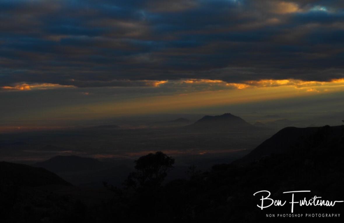 X-ray sunrise, Mulanje Mountains, Malawi