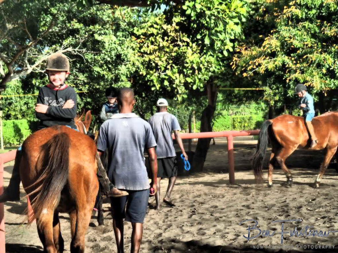Riding backwards, Vilankulo, Mozambique