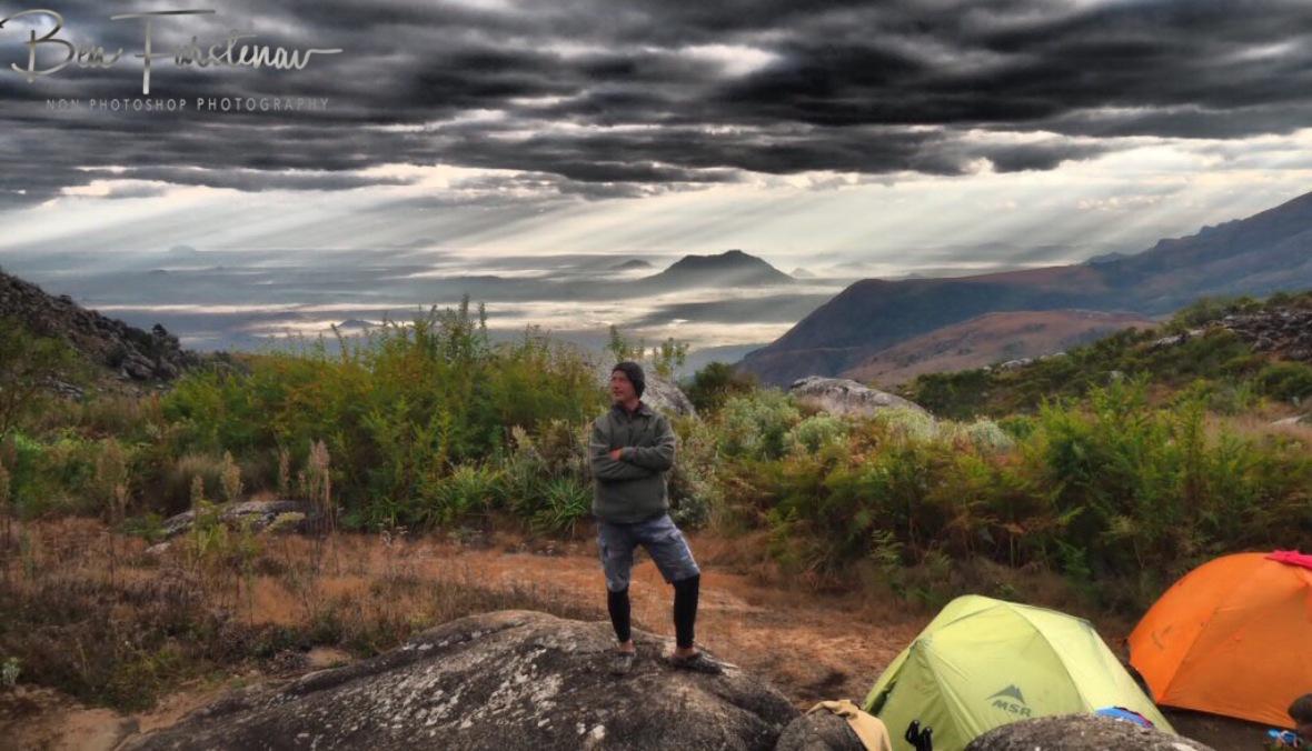 Ready to tackle Mt. Sapitwa, Mulanje Mountains, Malawi