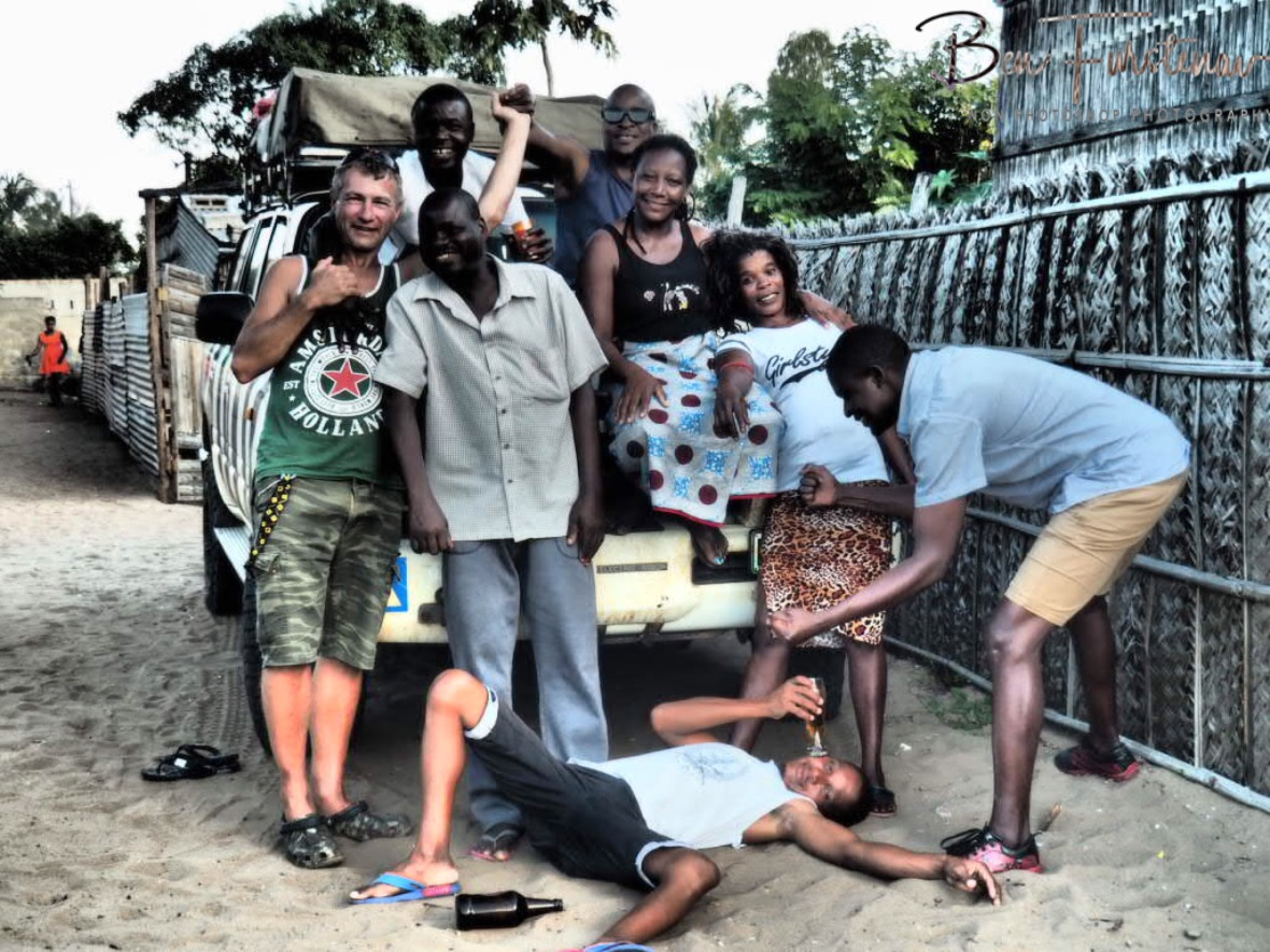 Happy faces, silly action, Inhambane, Mozambique