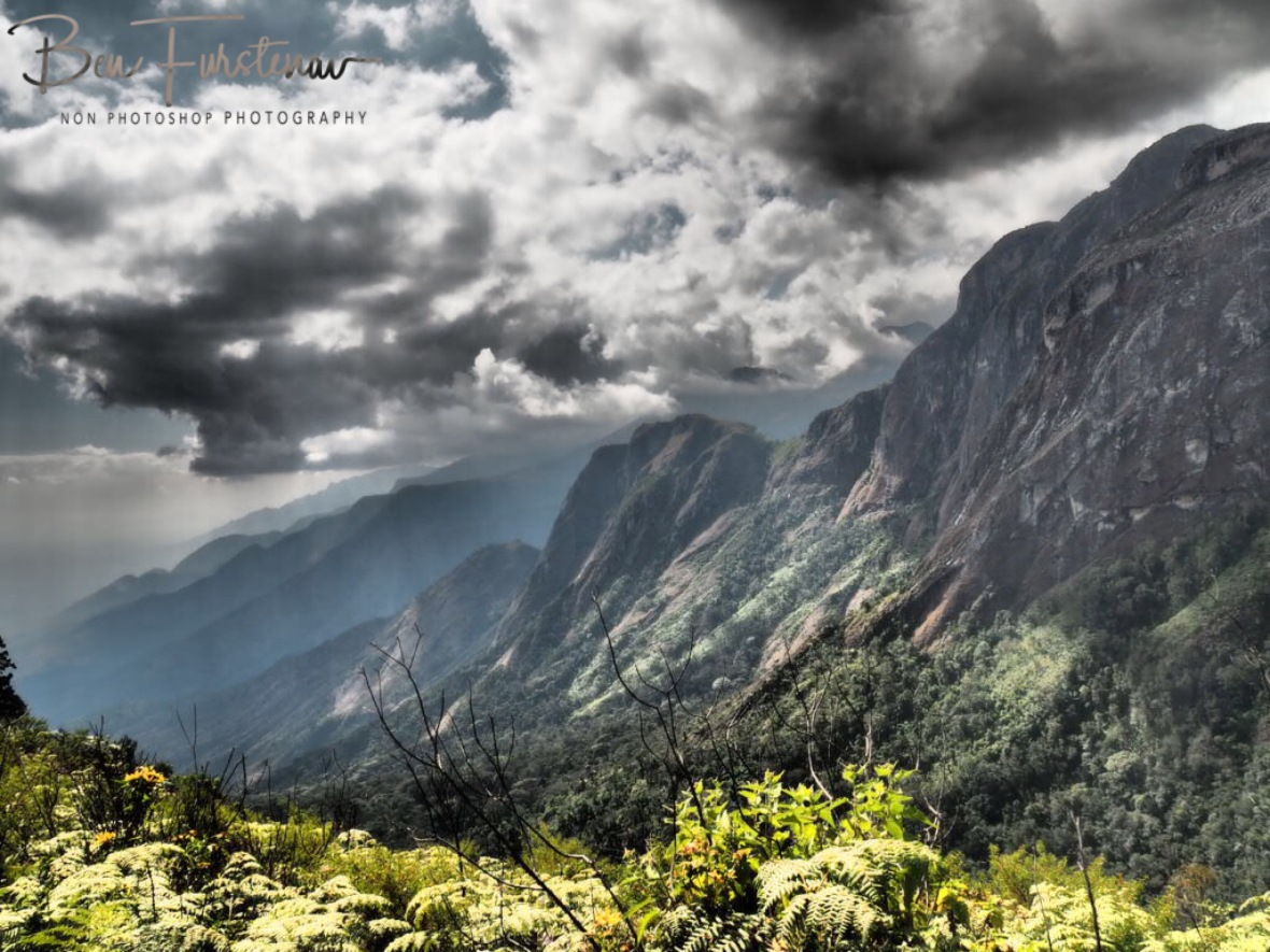 Clouds sweeping in from the east, Mulanje Mountains, Malawi