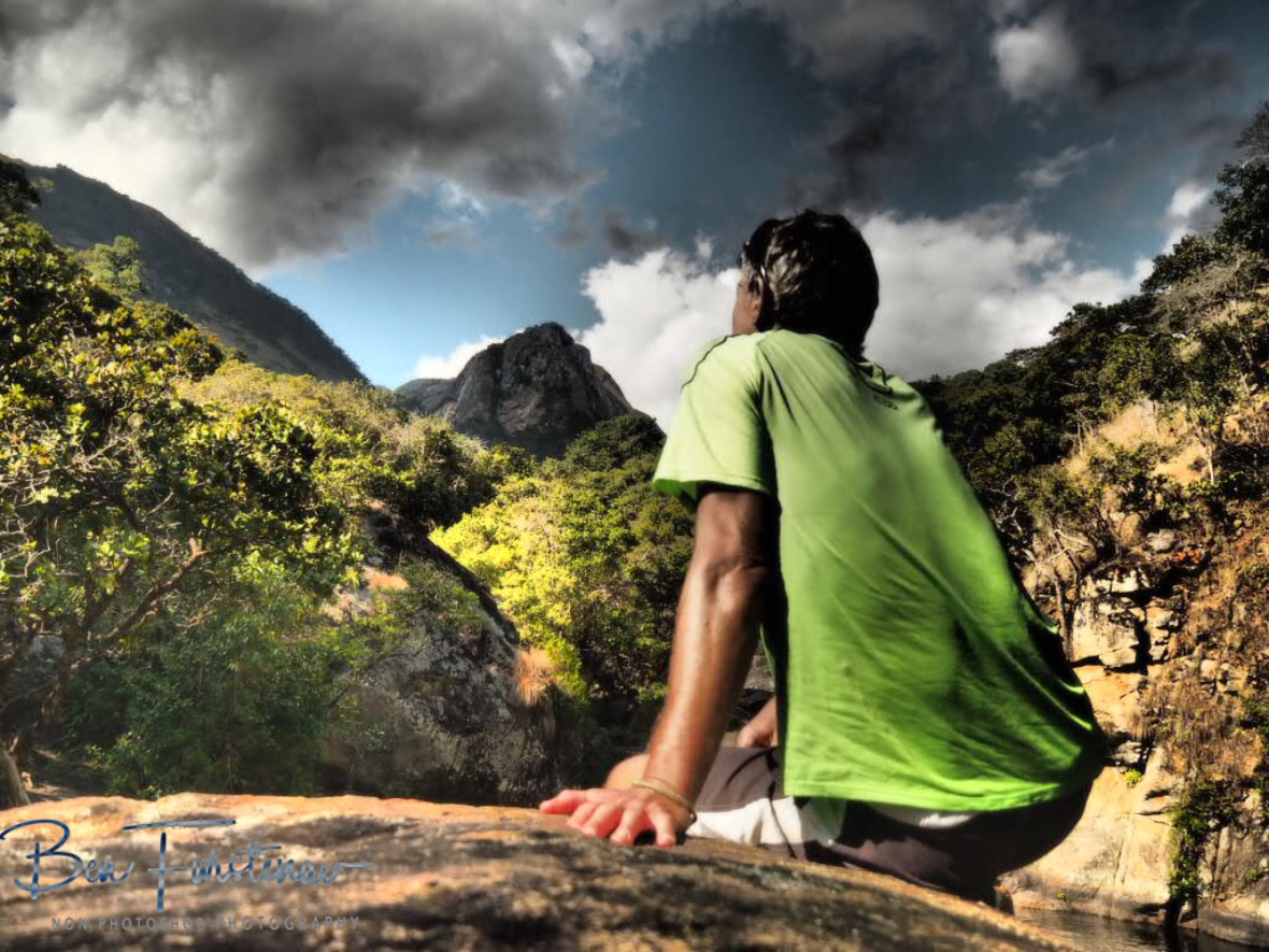Enjoying the view, Mulanje Mountains, Malawi