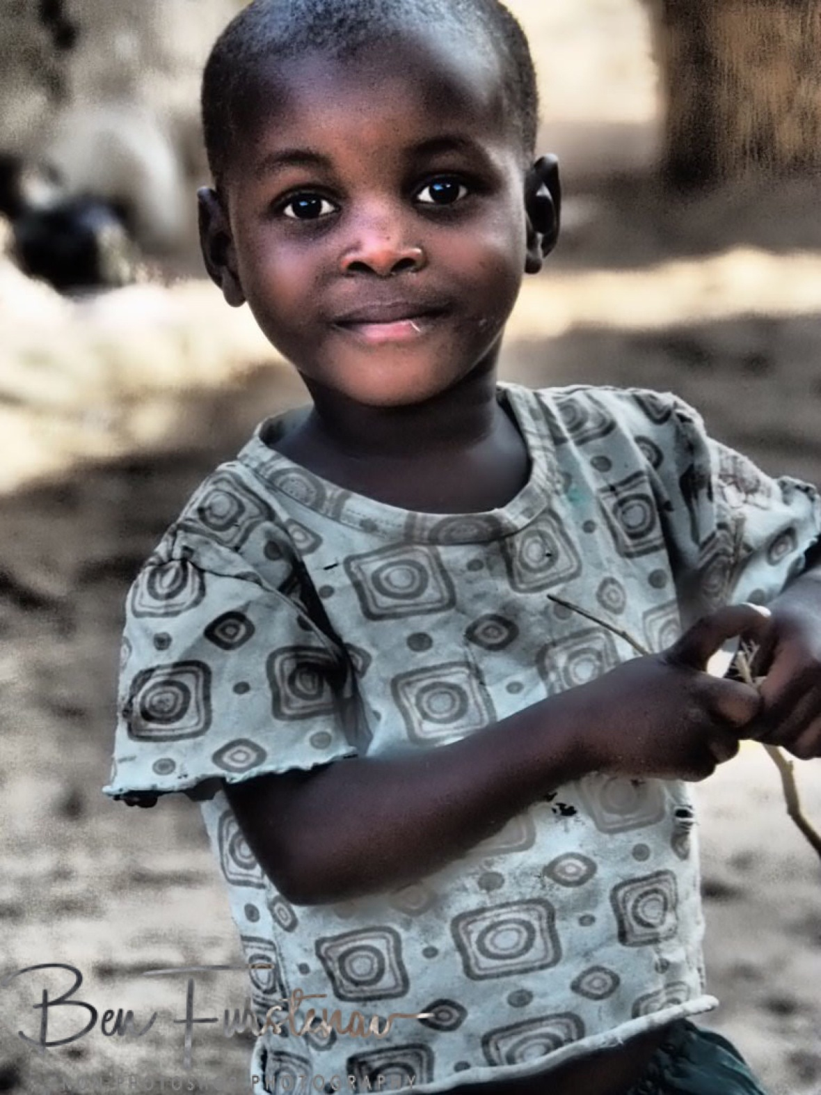 Cute smiling kid, Chembe, Cape MaClear, Lake Malawi, Malawi