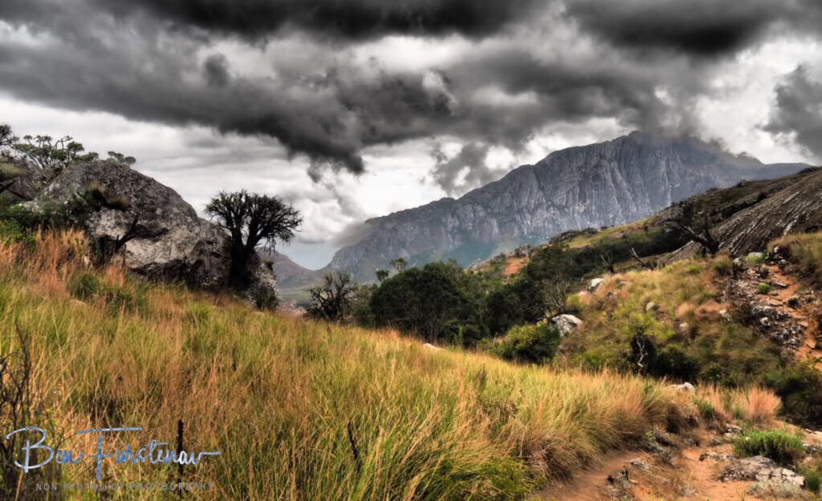Track was easy to see, hard to follow, Mulanje Mountains, Malawi