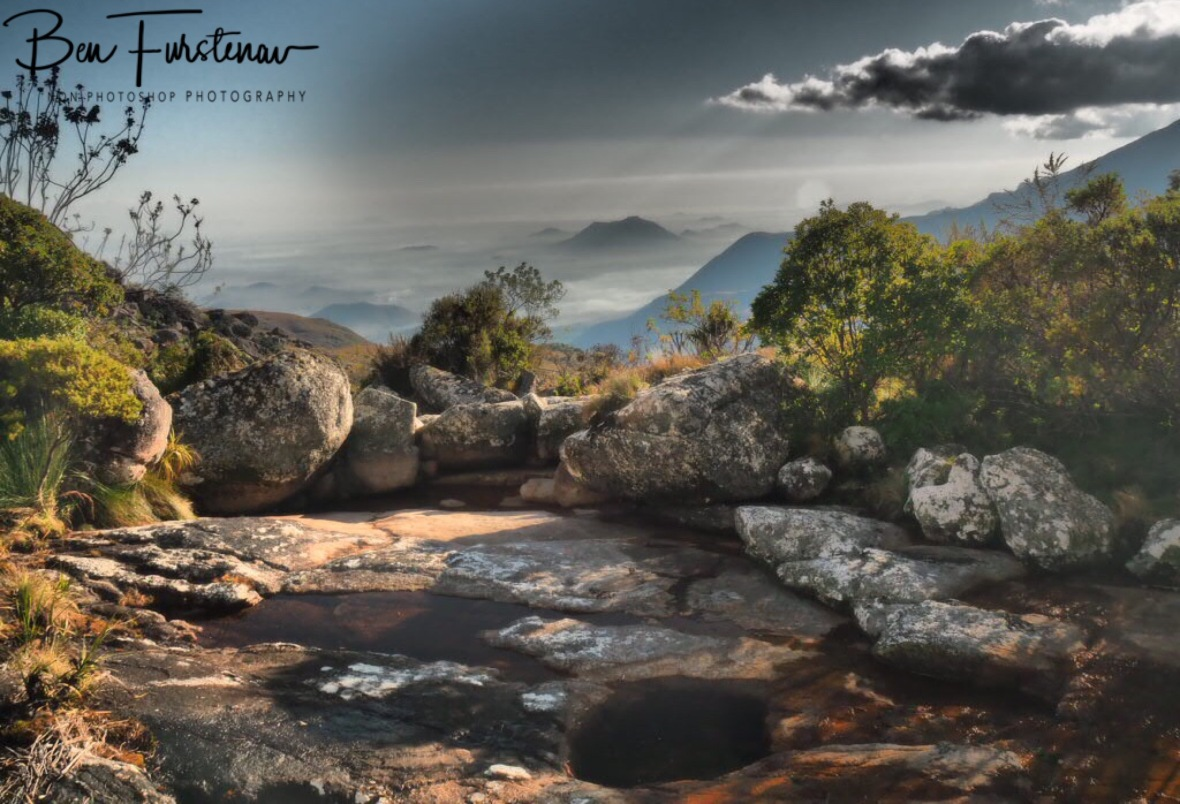 Rock pools above The Valley. Mulanje Mountains, Malawi