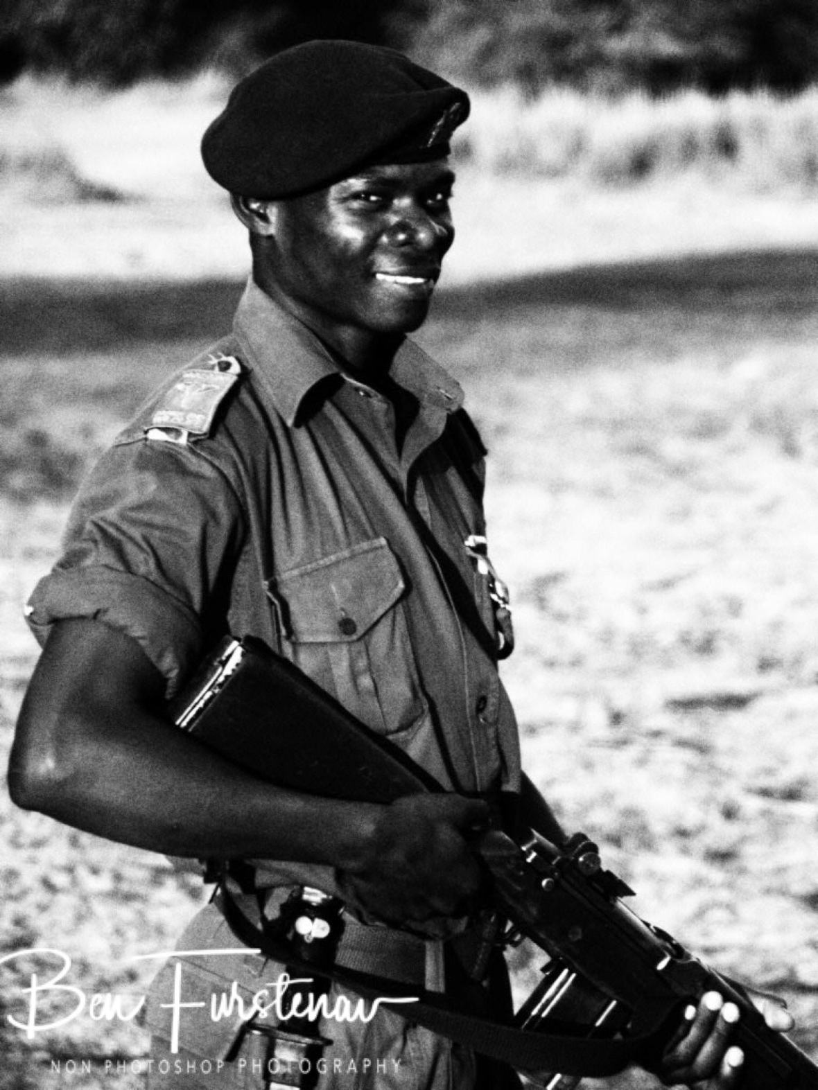 Ranger with a smile, Vwaza Marsh National Reserve, Malawi