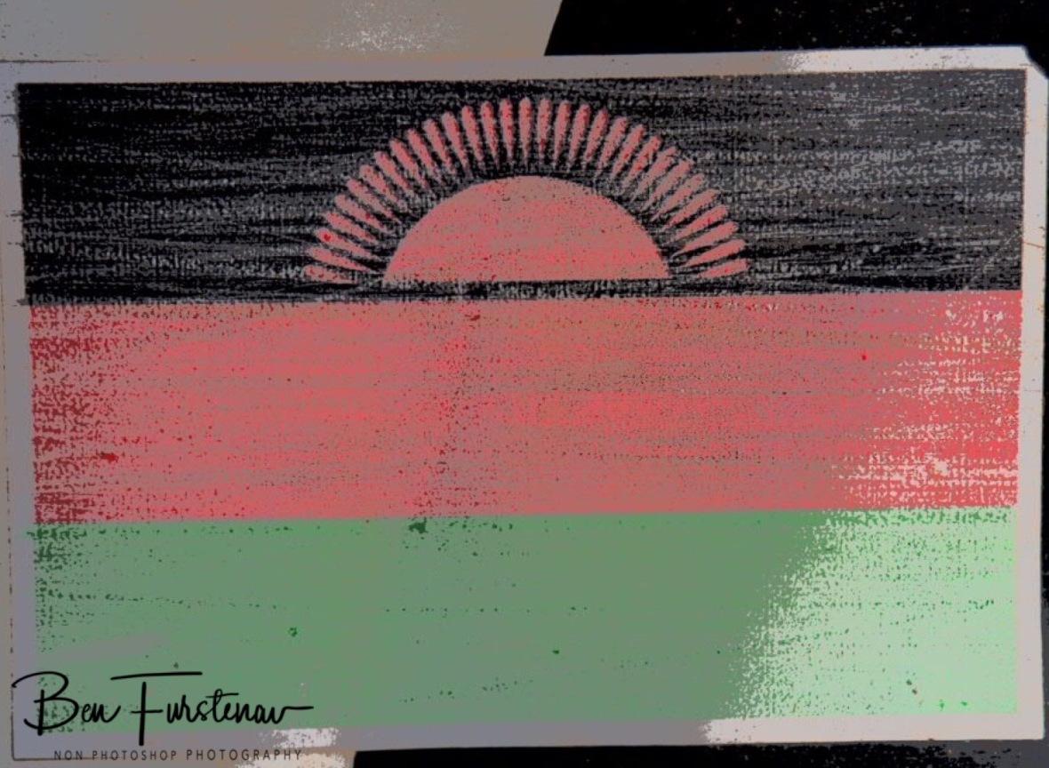Malawi flag on Zimba's flank, Malawi