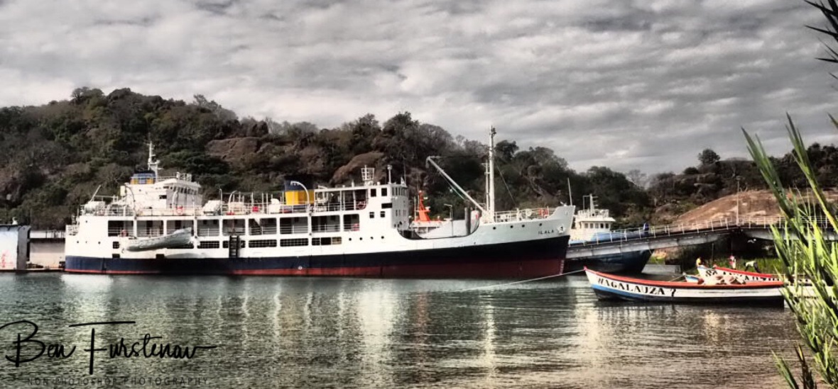 The famous 'Ilala' ship in the Harbour of Monkey Bay, Lake Malawi, Malawi