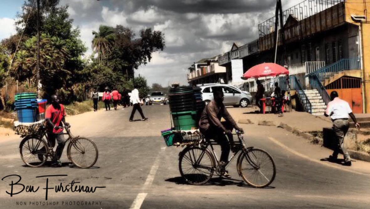 Dodging traffic in Lilongwe, Malawi