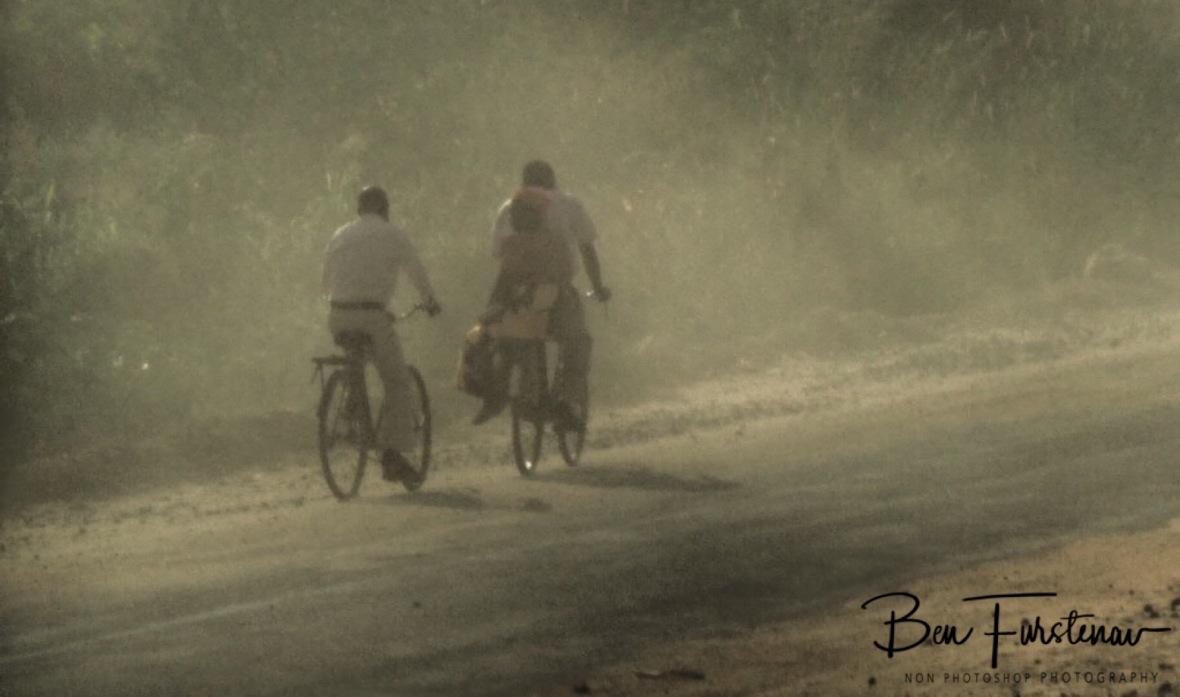 Battling dust near Salima, Malawi