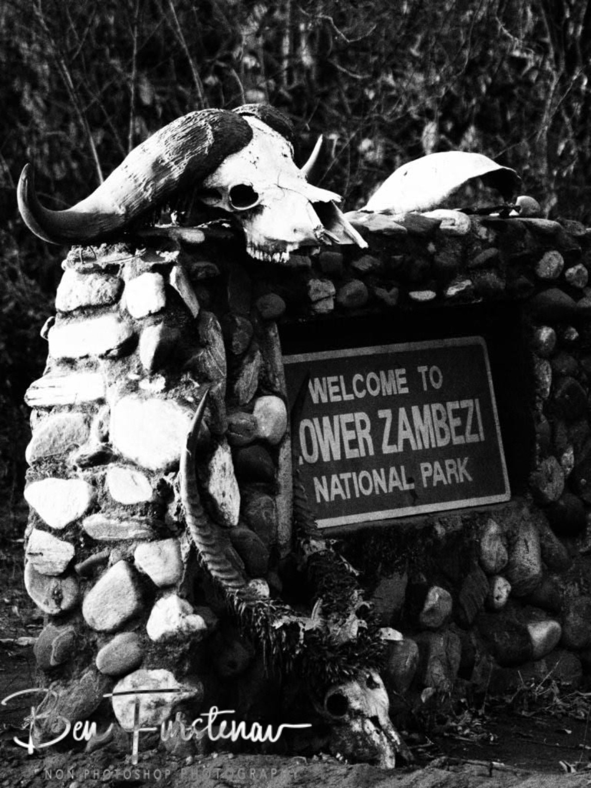 Clear warning, Lower Zambezi National Park Zambia