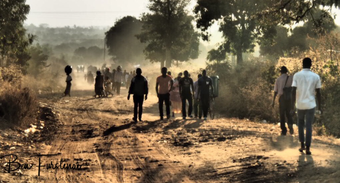 Dusty roads used by pedestrians, Northern Region, Malawi