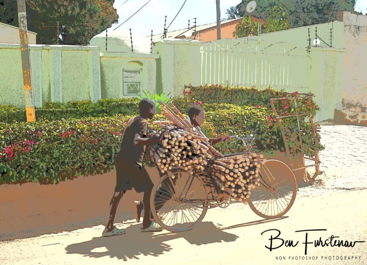 Sugar cane Transporter starting in early years in Lilongwe, Malawi
