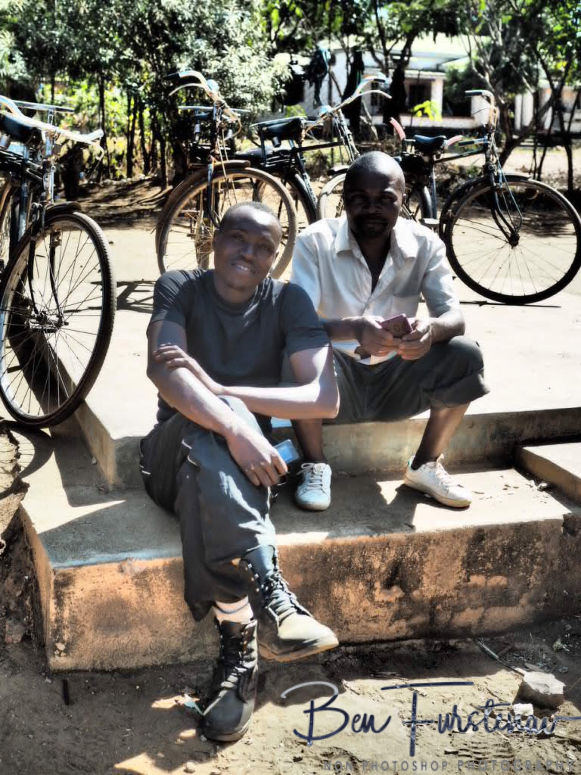 Bike taxi stands in Lilongwe, Malawi