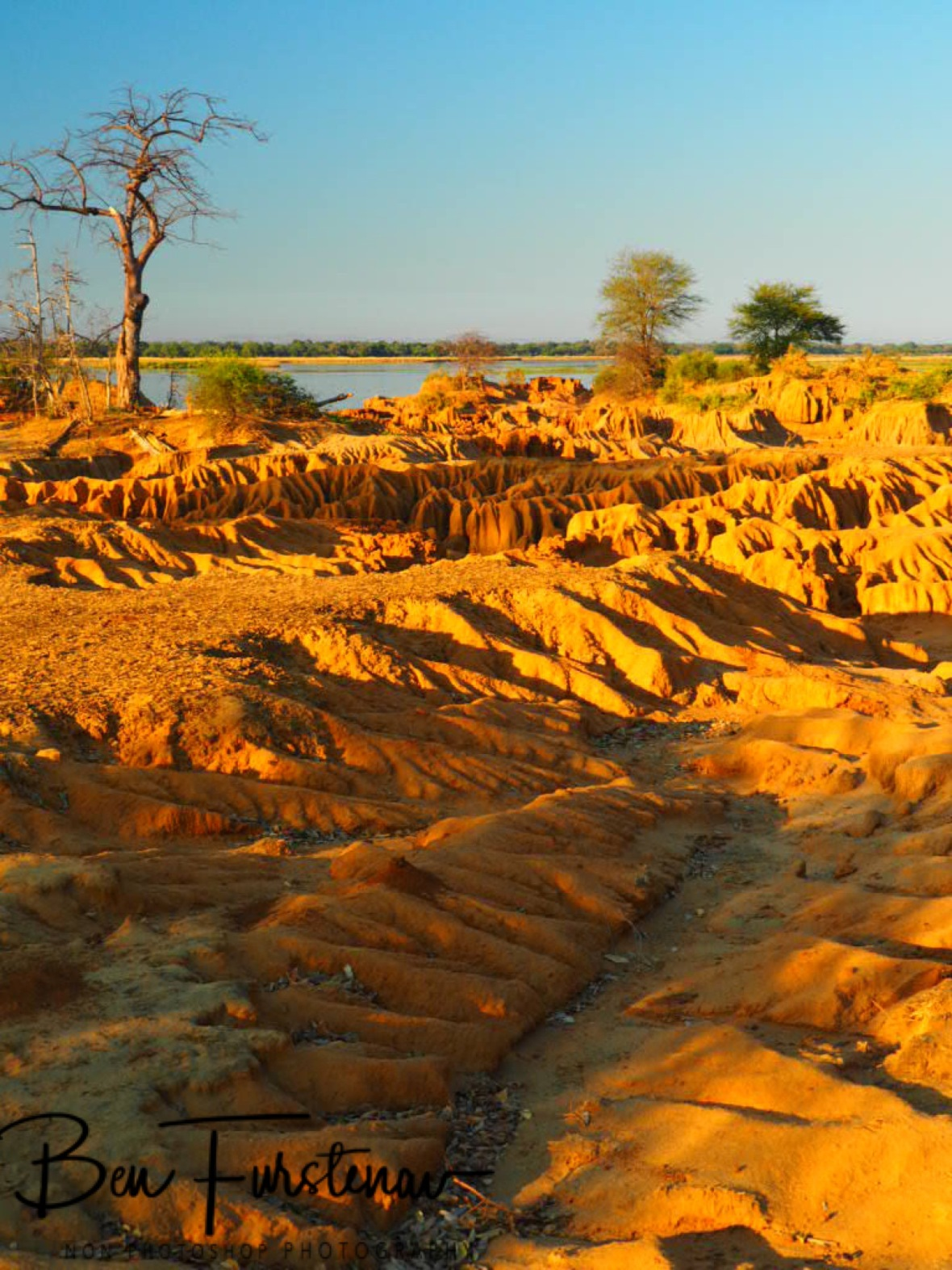 Washed out canyons, Lower Zambezi National Park, Zambia
