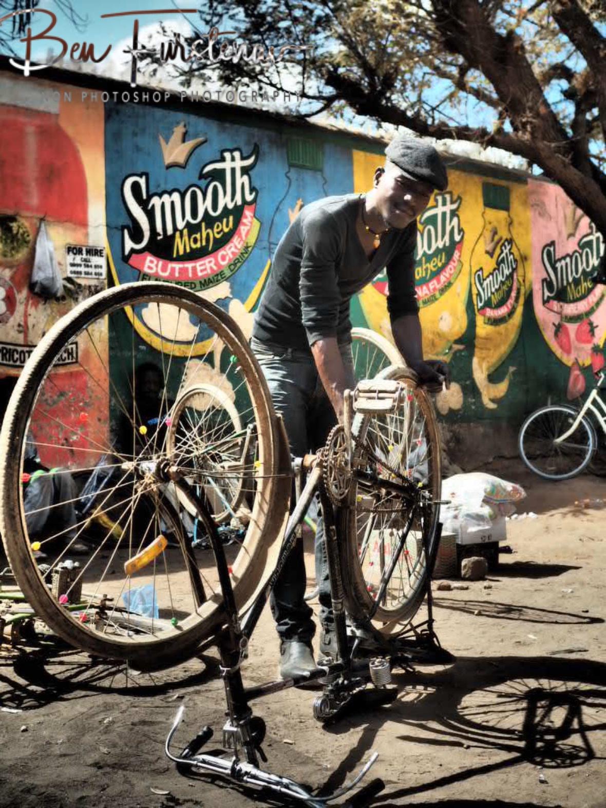 Bike repairs in Lilongwe, Malawi