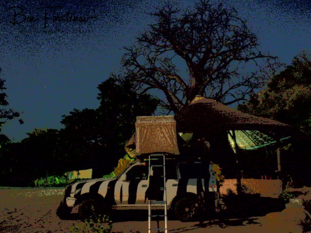 Zimba's Park on the beach under a huge Baobab tree in Monkey Bay, Lake Malawi, Malawi