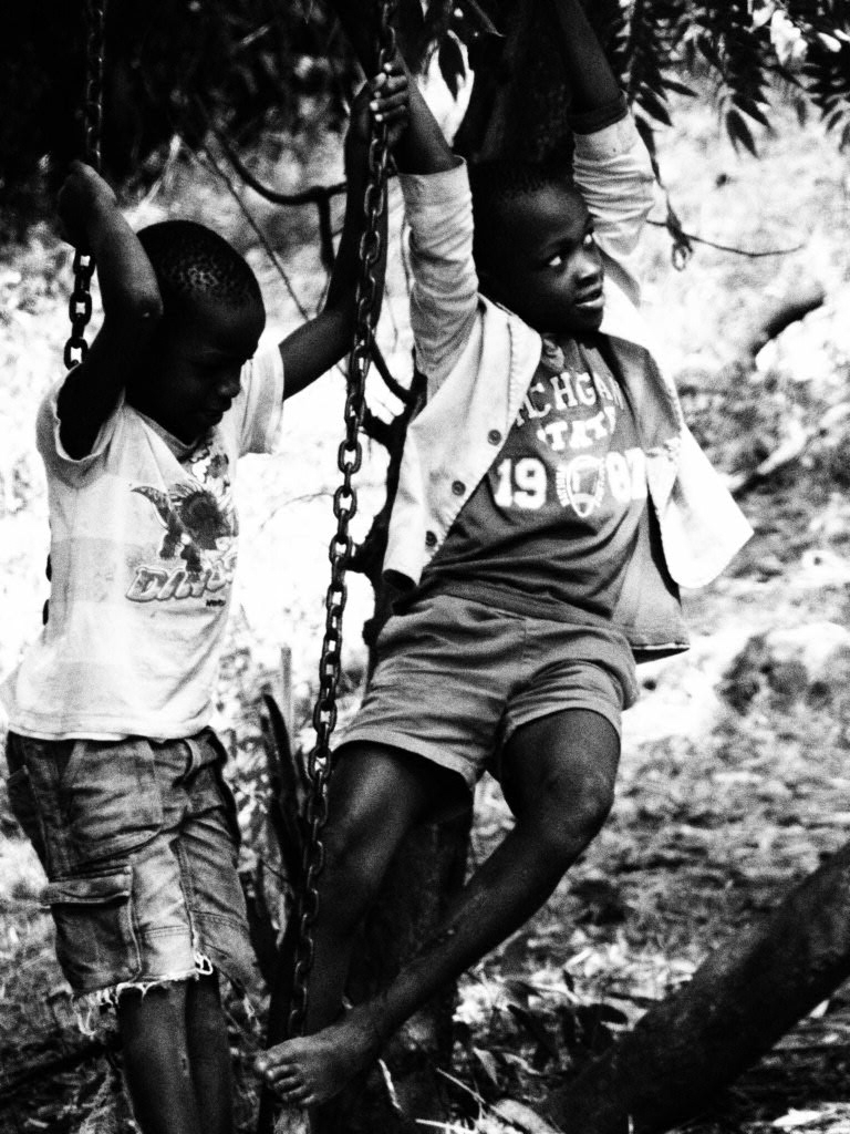Kids on the swing, Nhakata Bay,Malawi