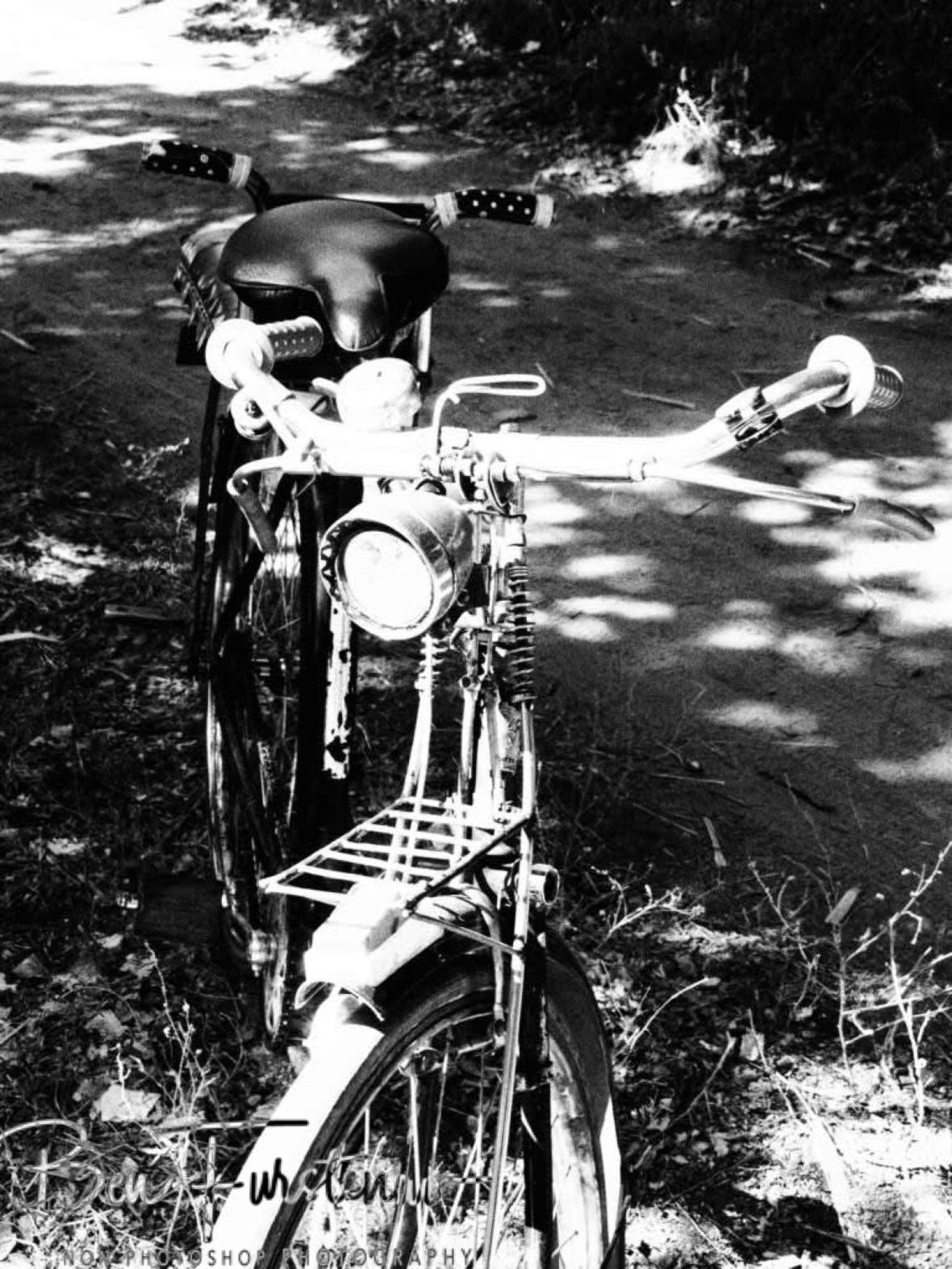 Classic bike taxi in Monkey Bay, Lake Malawi, Malawi