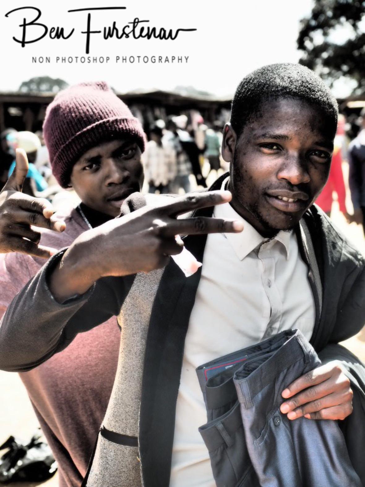 Cool market vendors, Lilongwe, Malawi