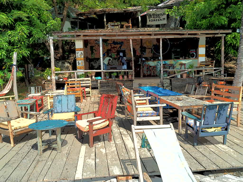 Butterfly Backpackers Bar, Nhakata Bay, Malawi