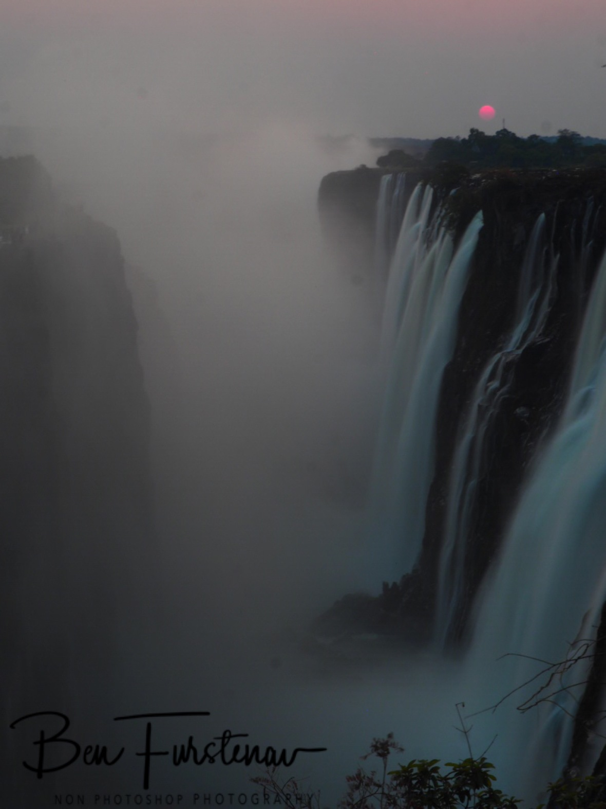 Thundering mist, Victoria Falls, Zambia
