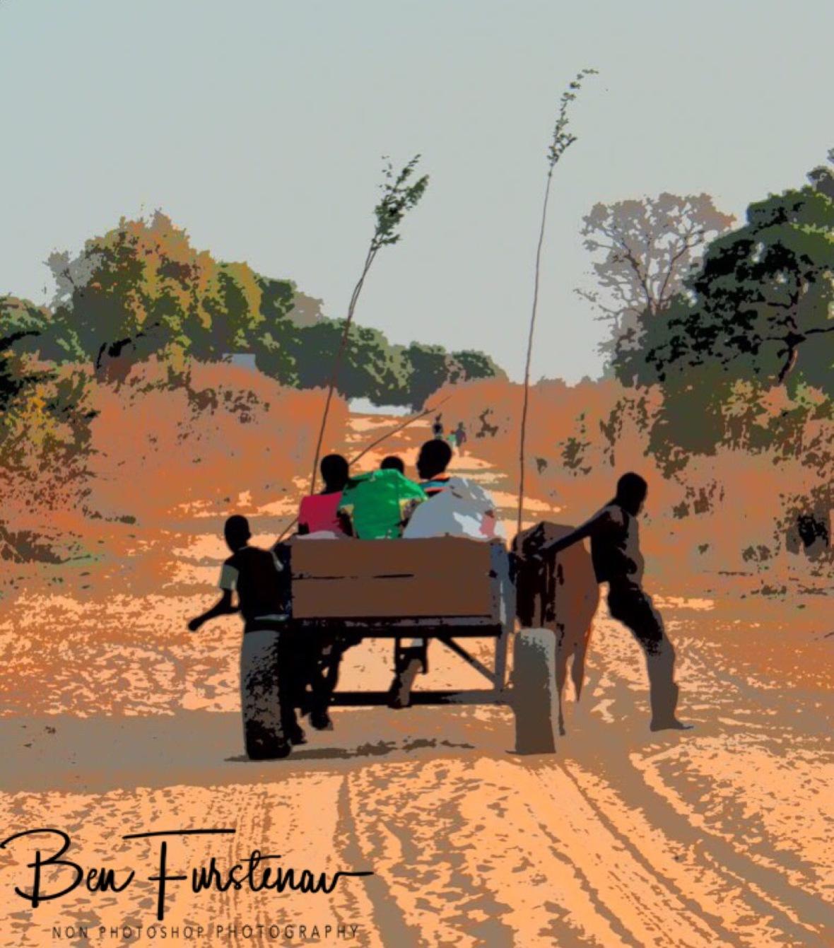 Ox wagon stop near Lukulu, Zambia