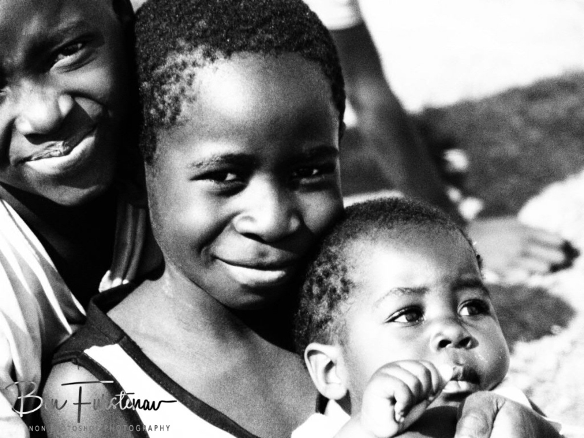 Family smiles in Lukulu, Zambia