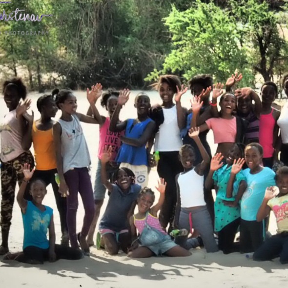 School class from Sesheke, Sioma Falls, Zambia