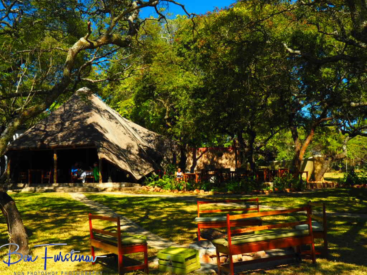 Restaurant, bar and dining area at Pioneer Camp, Lusaka, Zambia