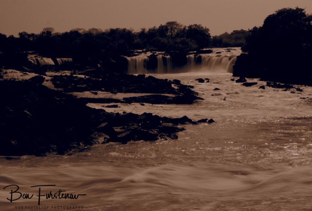 Sioma Falls in sepia, Zambia