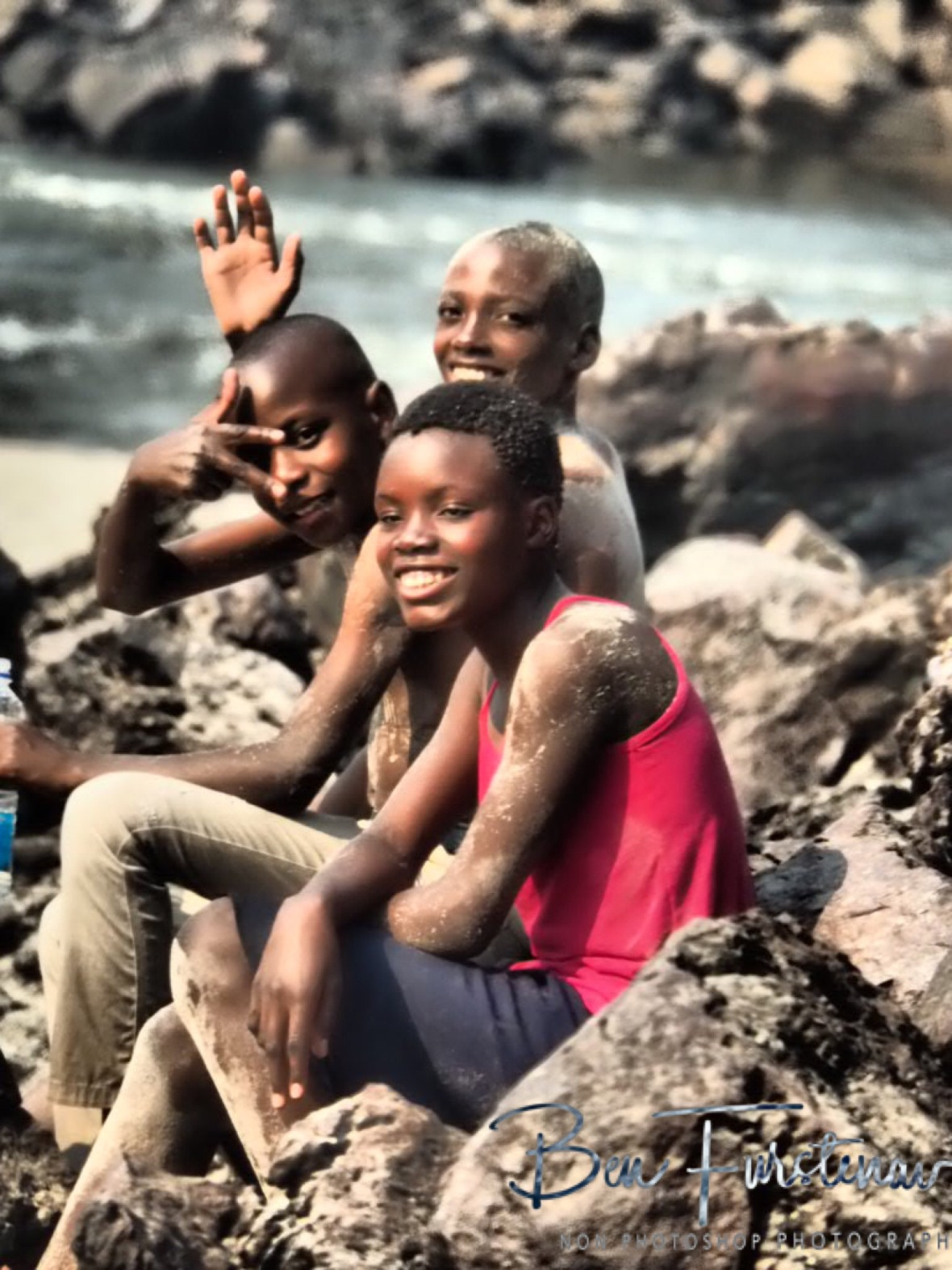 The boys were to shy to join me, Sioma Falls, Zambia