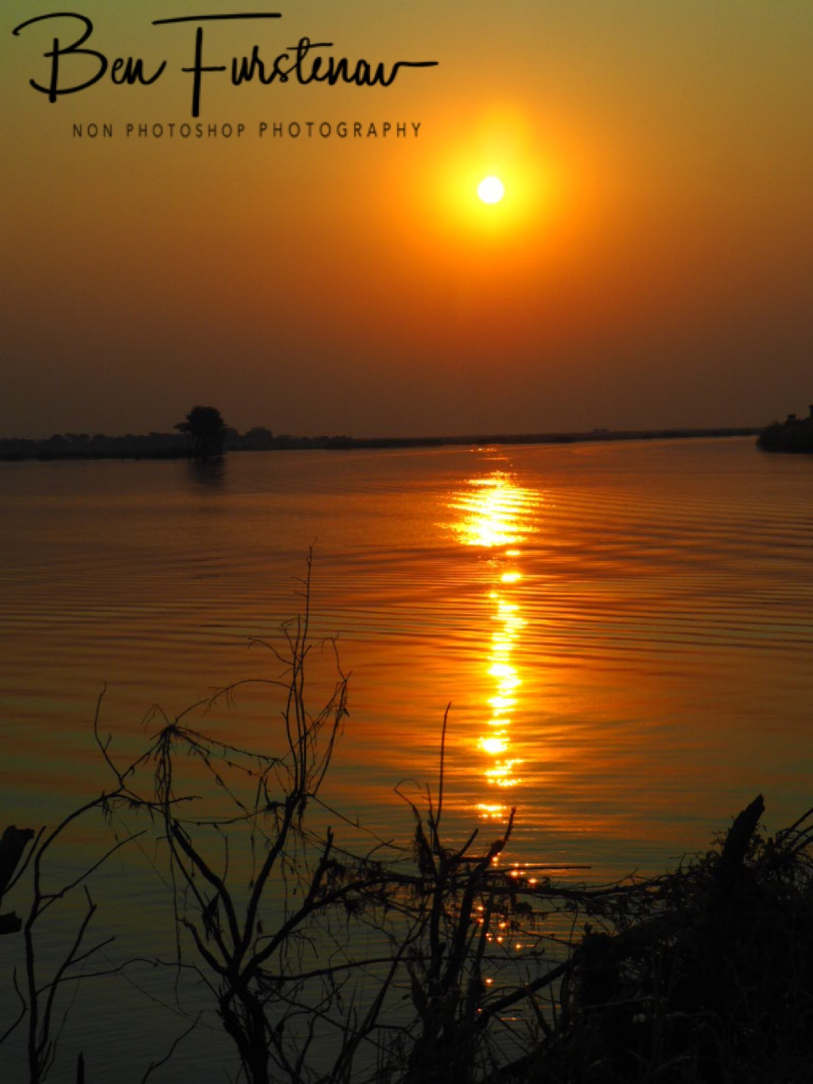 Sunset over the Chobe River, Botswana
