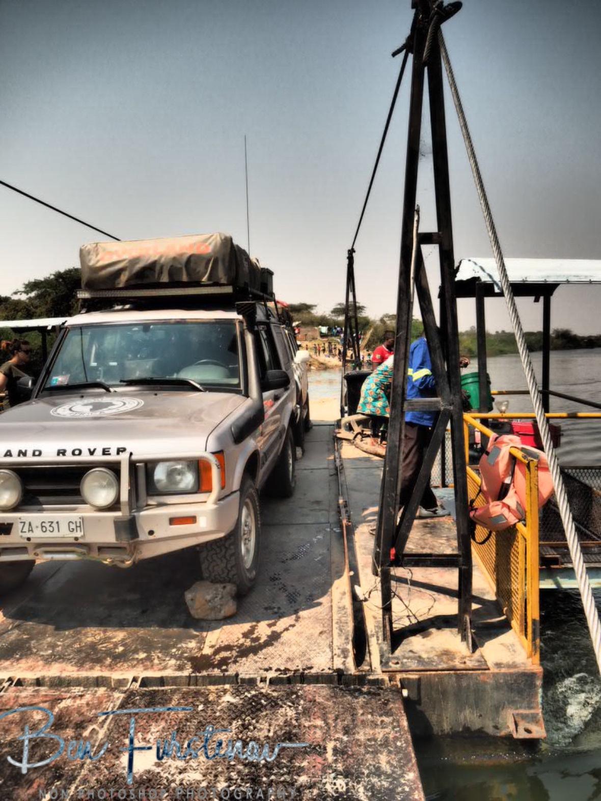 Giancarlo's shiny Landrover, Lukulu, Zambia