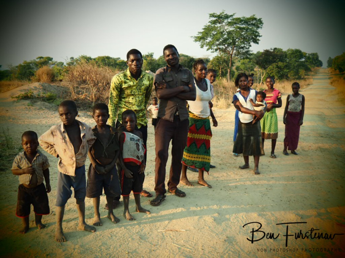 Surrounded by locals, Lukulu, Zambia