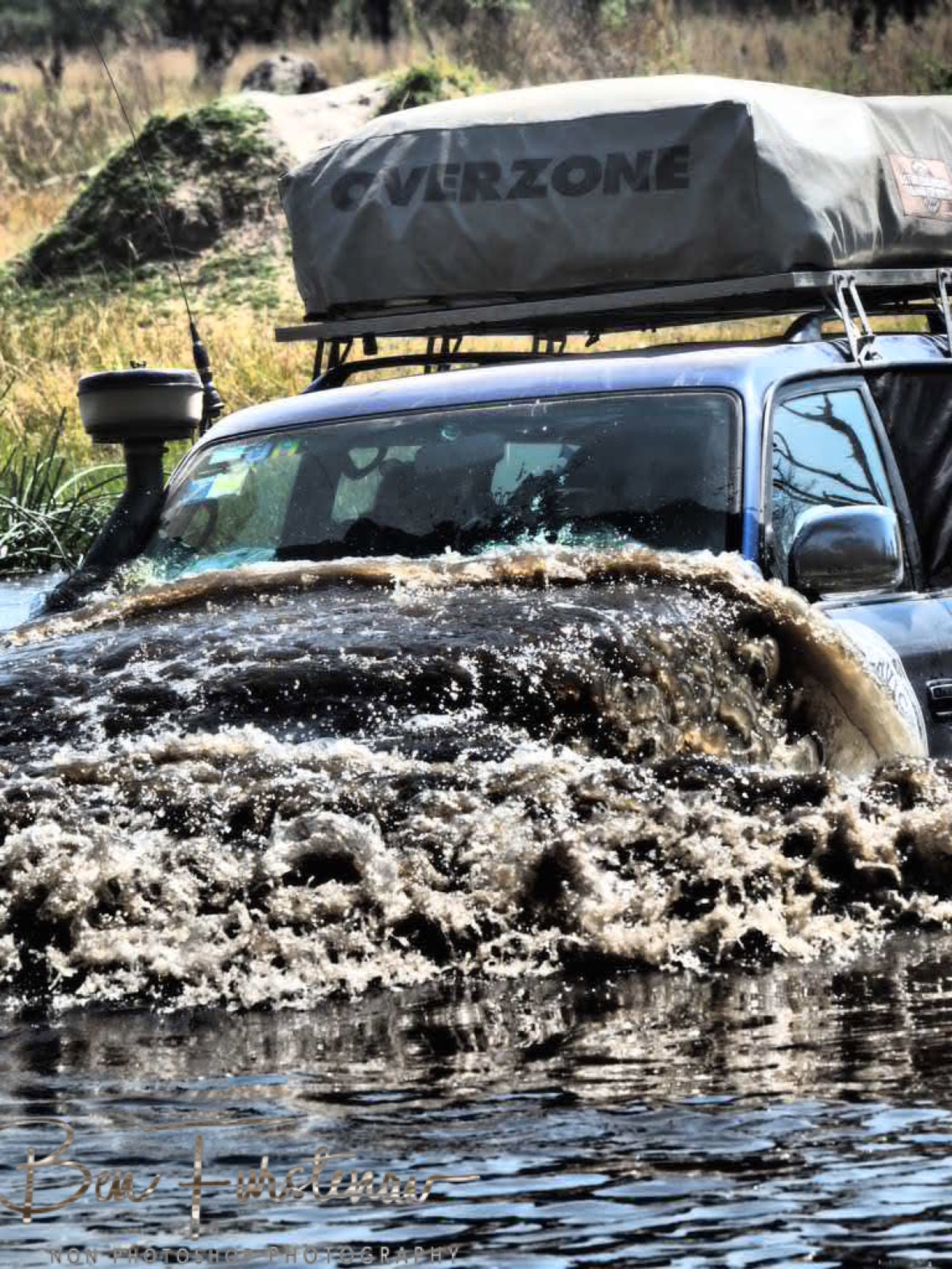 Car wash Botswana style, Kwai Region, Okavango Delta