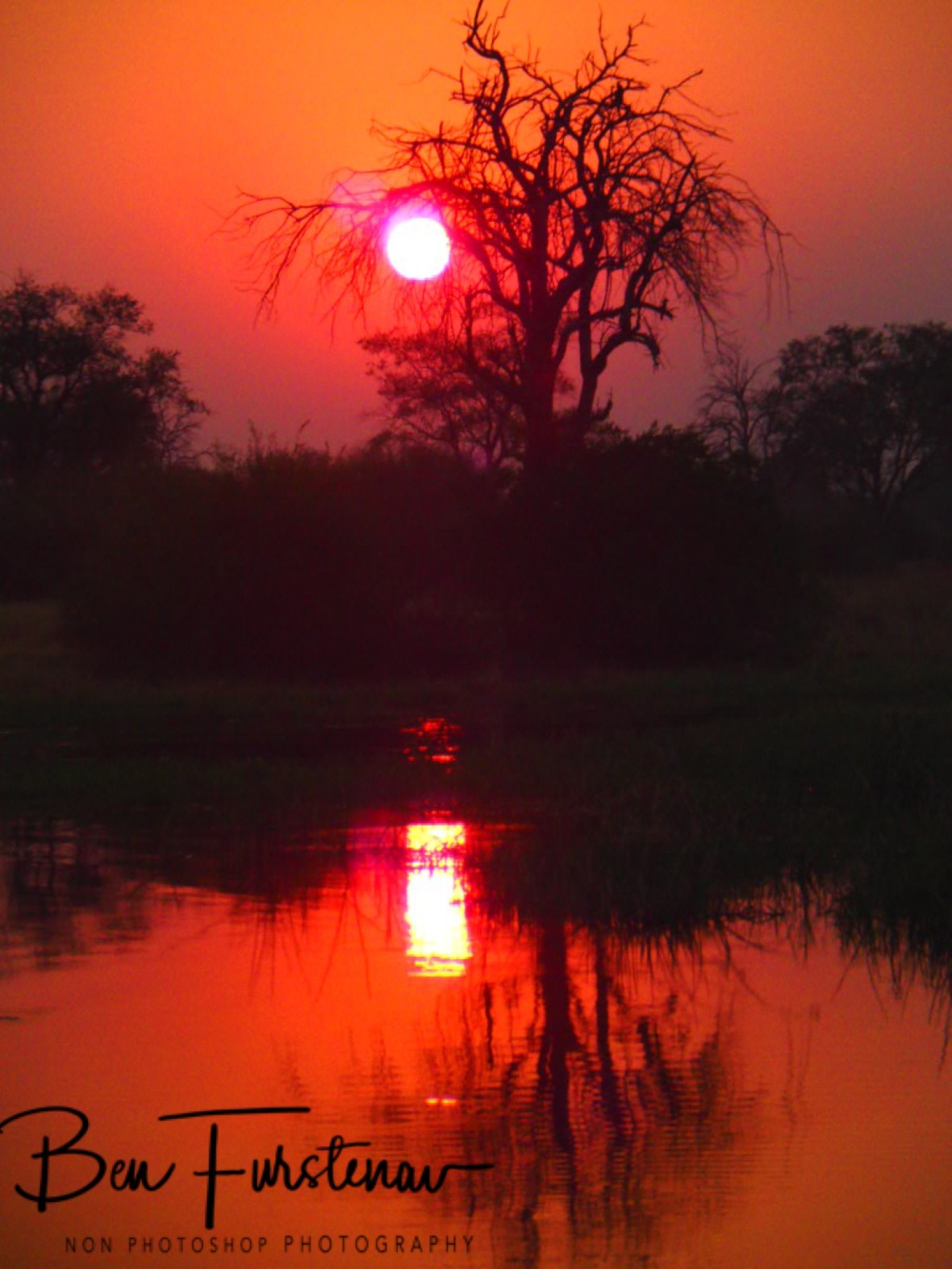 Red light district in Kwai Region, Okavango Delta, Botswana