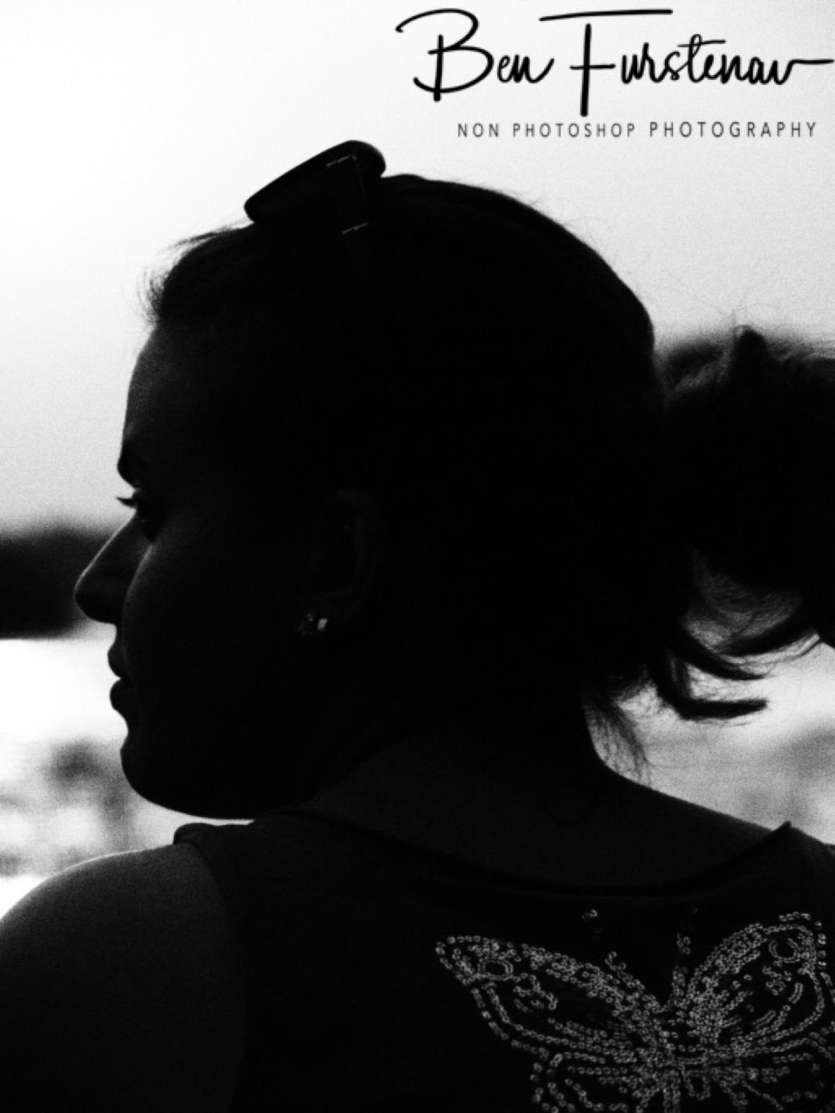 Jasmine watching the sunset, Livingstone, Zambia
