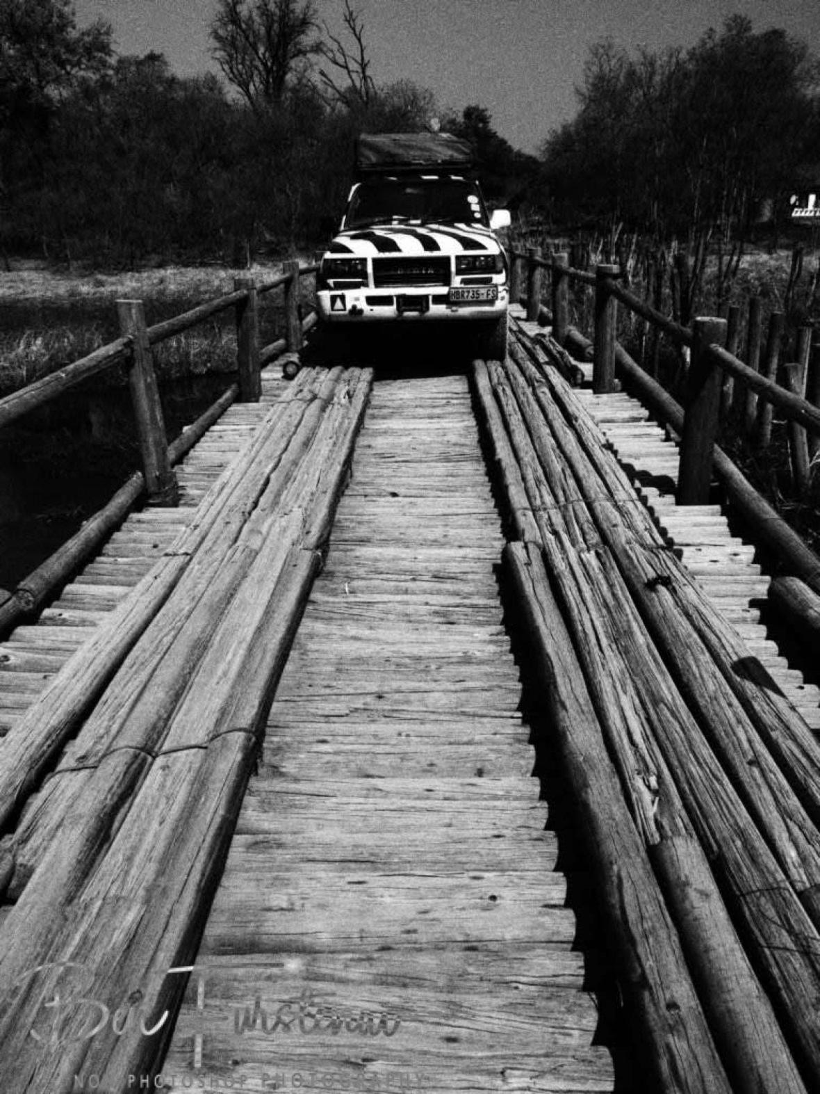 Typical bridge in Okavango Delta, Kwai Region, Botswana