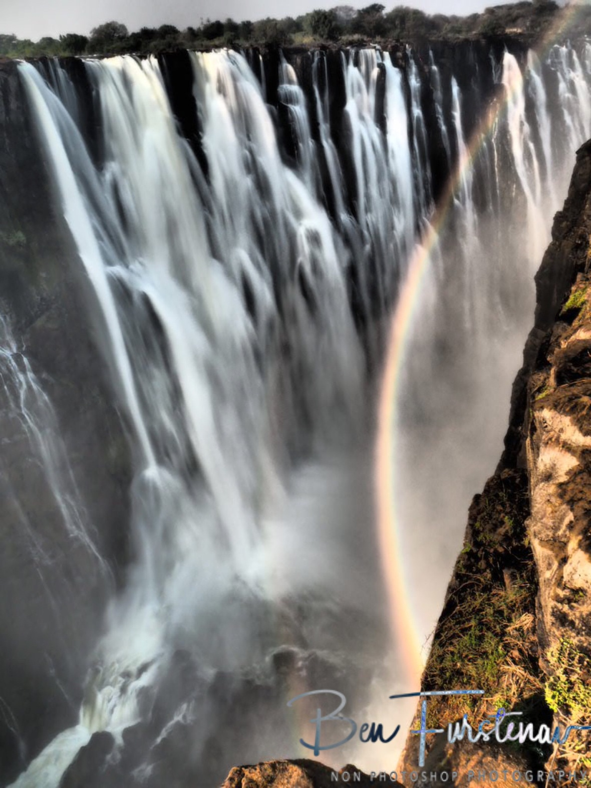 108 meters free fall, Victoria Falls, Zambia