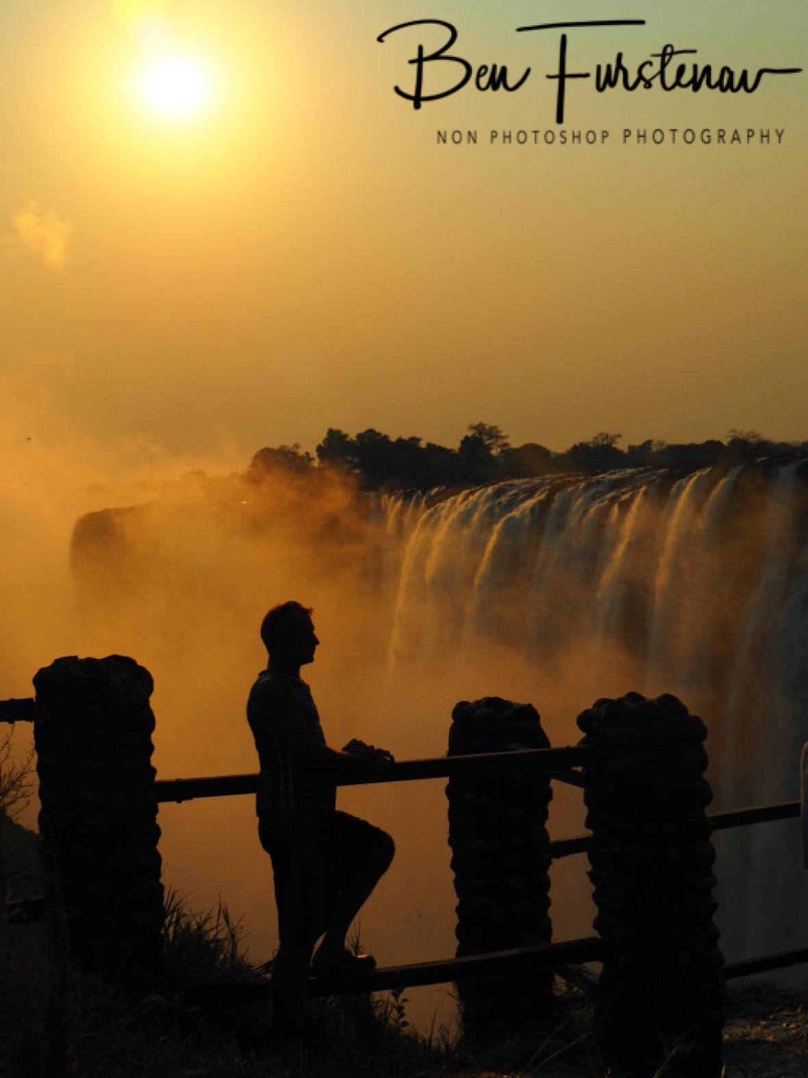 Shadow play with water and sun, Victoria Falls, Zambia