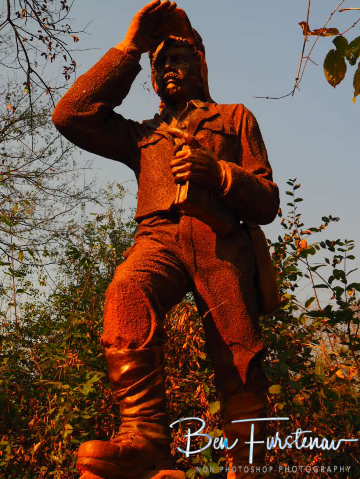 Statue off David Livingstone at Victoria Falls, Livingstone, Zambia