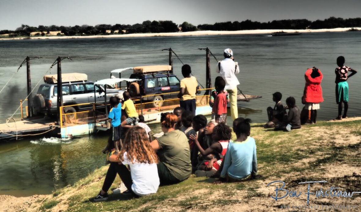 Watching the ferry leave in Lukulu, Zambia