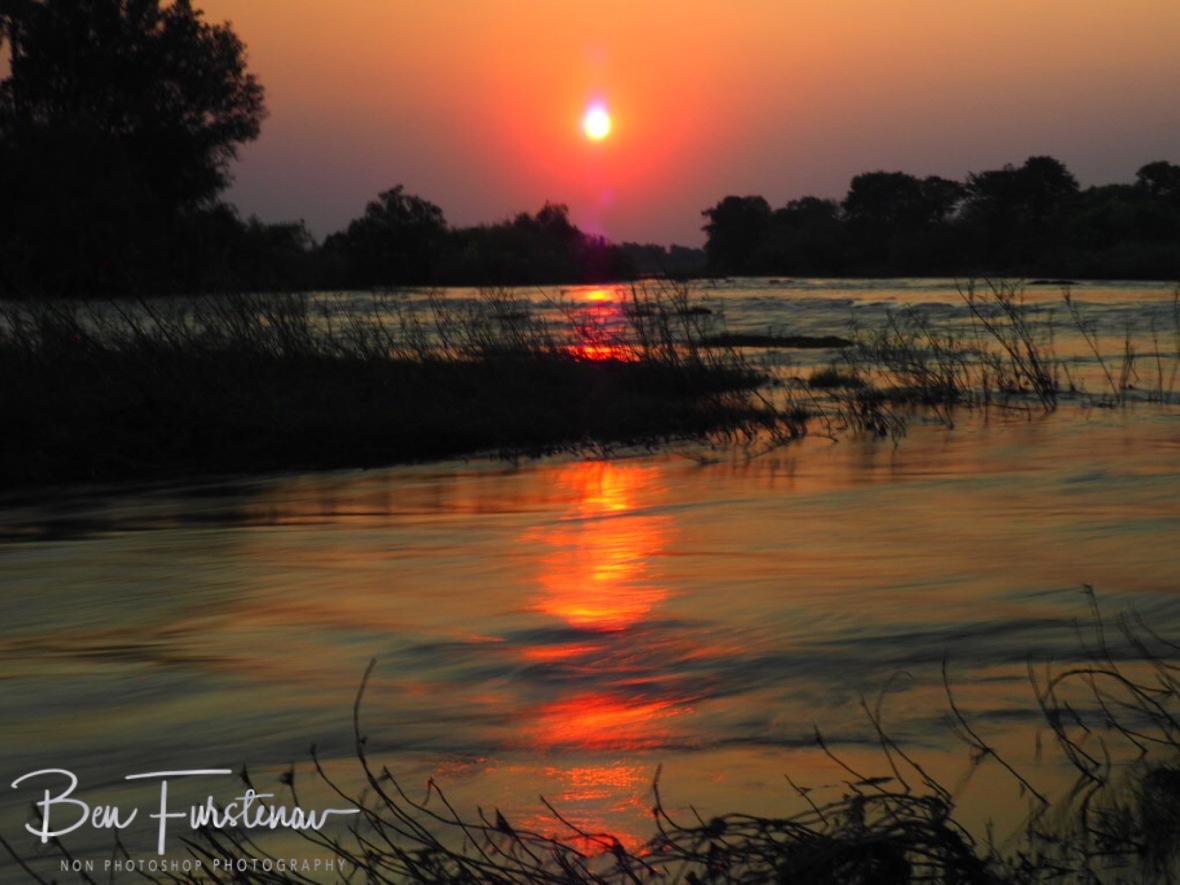 Sunset over the Zambezi River, Livingstone, Zambia