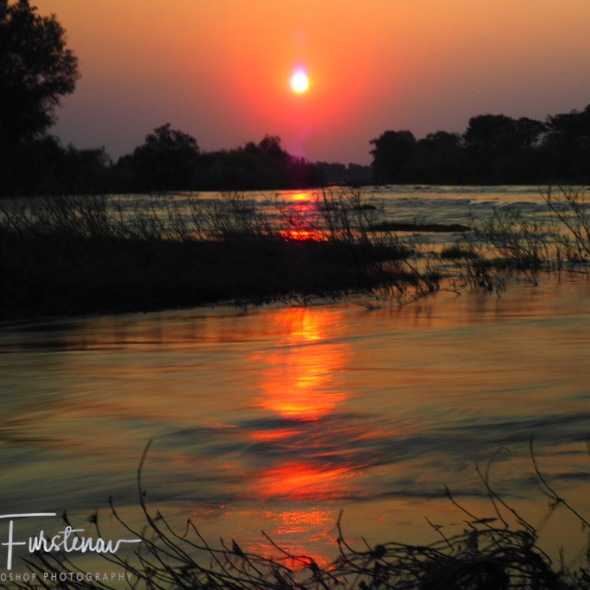 Sunset over the Zambezi River, Livingstone, Zambia