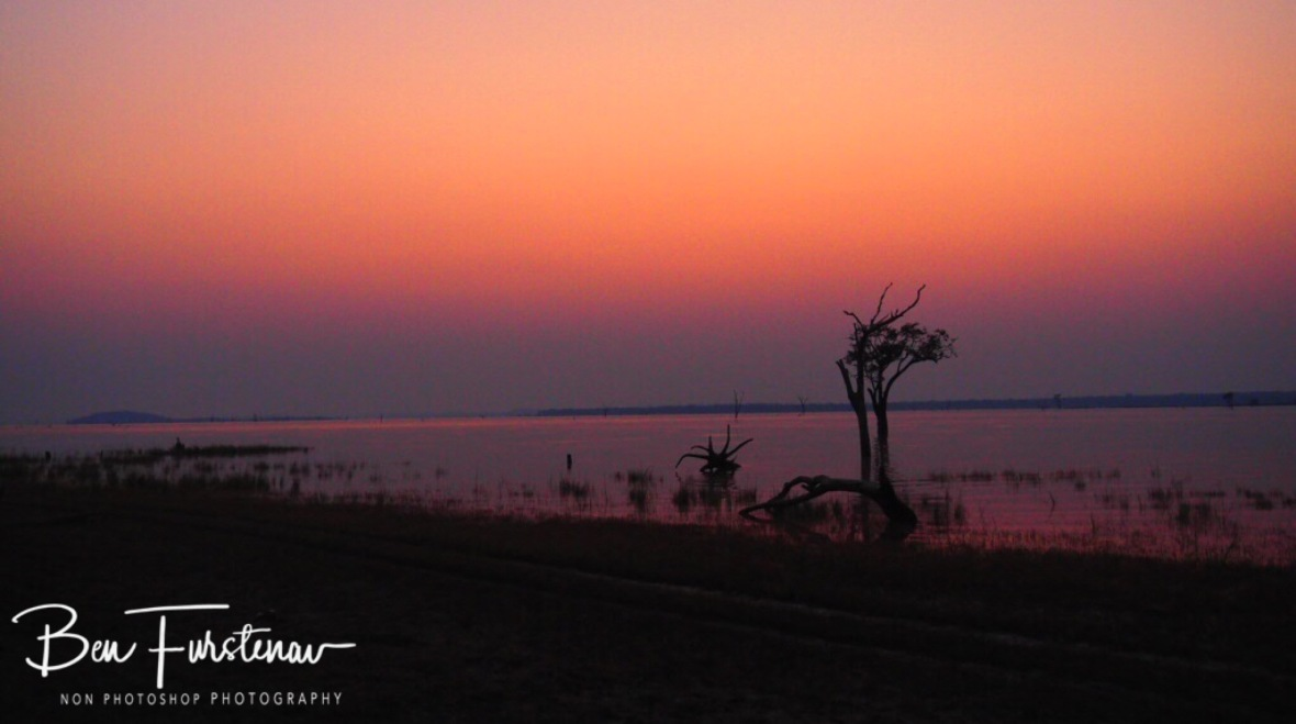 Early morning on on Lake Itezhi-Tezhi, Kafue National Park, Zambia