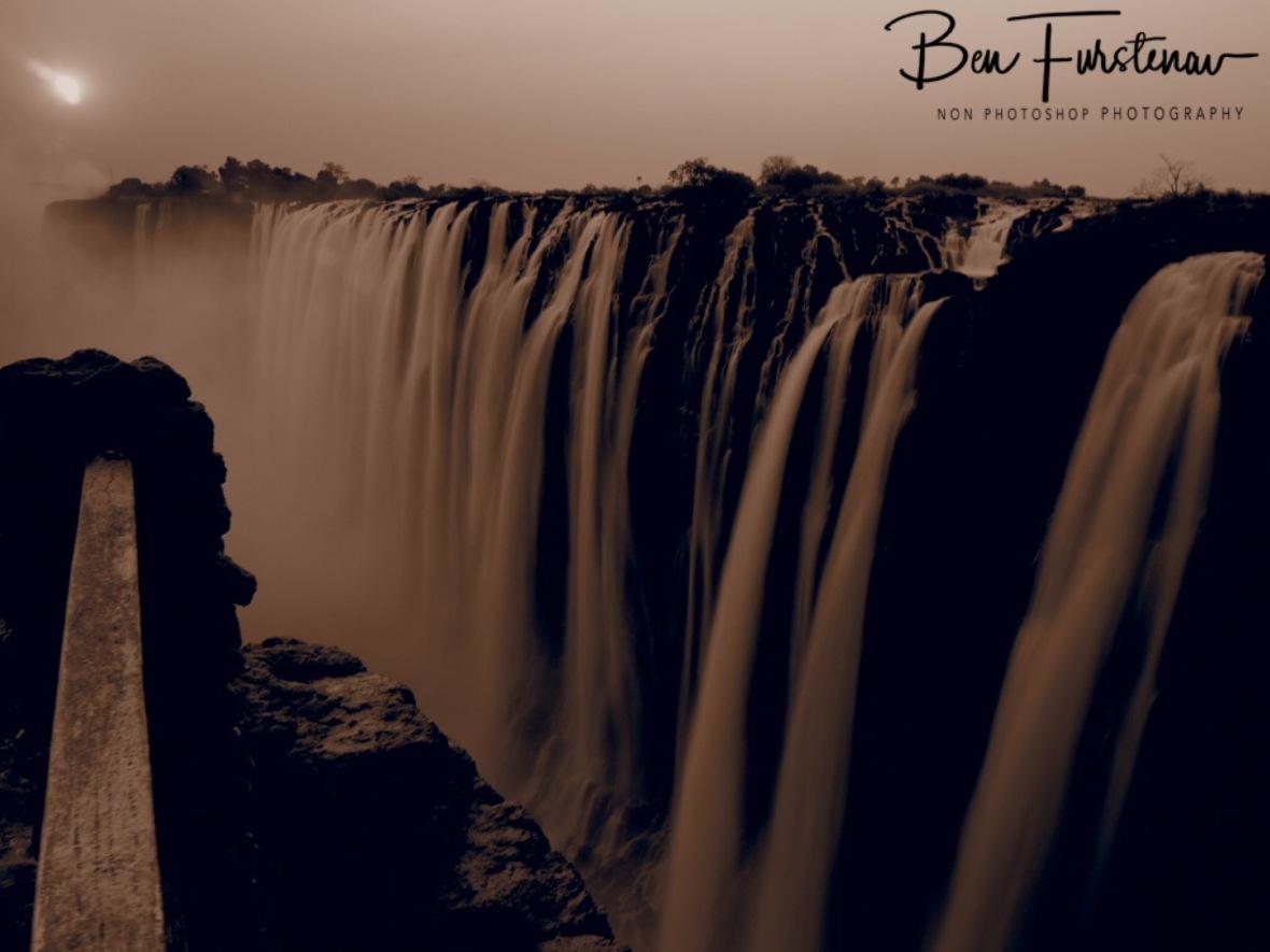 Victoria Falls in sepia, Zambia